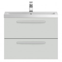 Quartet Grey Gloss Mist 720mm Cabinet & Basin
