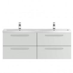 Quartet Grey Gloss Mist 1440mm Double Cabinet & Basin