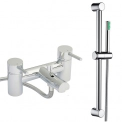 Quest Lever Bath Shower Mixer Tap & Rail Kit