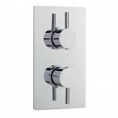 Quest Twin Thermostatic Concealed Shower Valve With Diverter