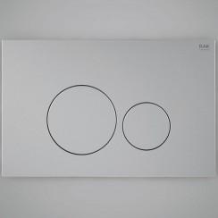 Round White Flush Plate