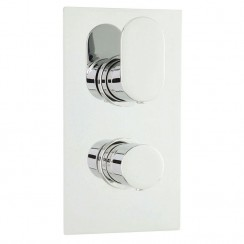 Reign Concealed Twin Thermostatic Valve With Diverter