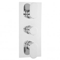 Reign Triple Thermostatic Concealed Shower Valve With Diverter