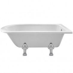 Winterburn Single Ended Traditional Shower Bath 1500mm x 750mm (Pride Legs)