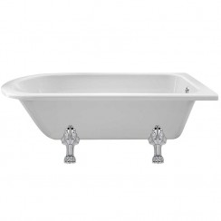 Winterburn Single Ended Traditional Shower Bath 1700mm x 750mm (Pride Legs)