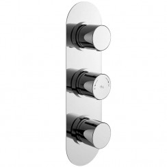 Round Triple Concealed Shower Valve With Diverter