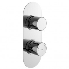 Round Twin Concealed Shower Valve