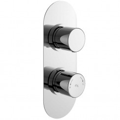 Round Twin Concealed Shower Valve With Diverter