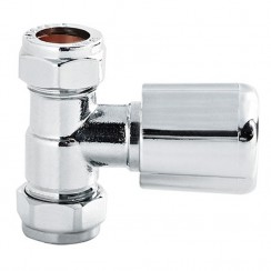Chrome Radiator Valves Straight (pair)