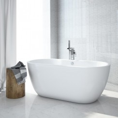 San Marlo Bath In Acrylic White L1655 x W750 x D580mm