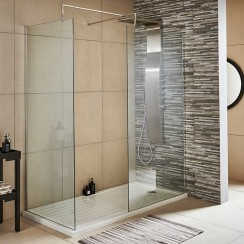 1700 x 800mm Premier Walk-In Shower Enclosure