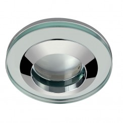 Round Glass Shower Light Fitting