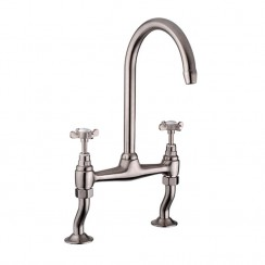 Series Fifteen Kitchen Tap, Brushed Steel