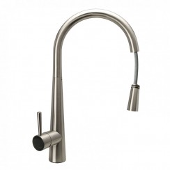 Series Sevem Kitchen Tap, Brushed Steel