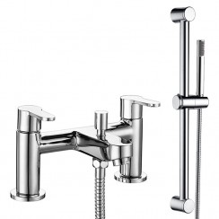 Jasmine Bath Shower Mixer Tap & Rail Kit