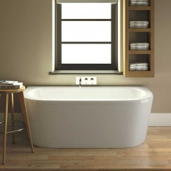 Shingle Double Ended Back To Wall Bath 1700 x 800mm