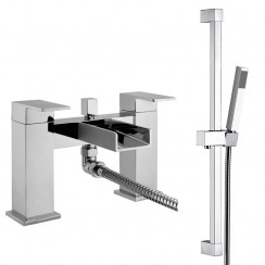 Shorditch Bath Shower Mixer Tap & Rail Kit
