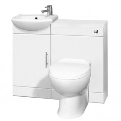 Sienna Cloakroom Furniture Pack - Without Tap
