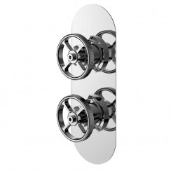 Industrial Twin Concealed Shower Valve With Diverter