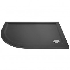 Offset Quadrant Shower Tray 1000mm x 800mm LH - Slate Grey