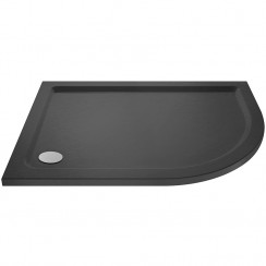 Offset Quadrant Shower Tray 900mm x 760mm RH - Slate Grey