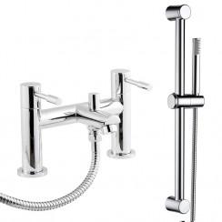 Soho Bath Shower Mixer Tap & Rail Kit