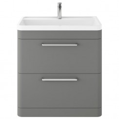 Solar Cool Grey 800mm Floor Standing Cabinet & Basin