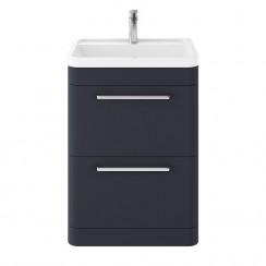 Solar Indigo Blue 600mm Floor Standing Cabinet & Basin