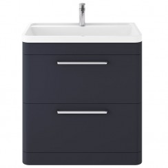 Solar Indigo Blue 800mm Floor Standing Cabinet & Basin