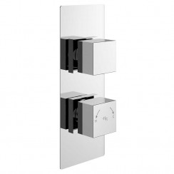 Square Twin Concealed Shower Valve With Diverter