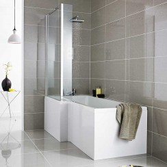 Complete Square Shower Bath 1500 x 850mm LH LIFESTYLE