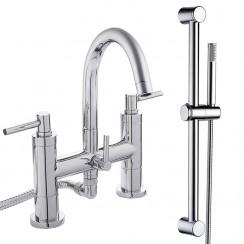 Lisbon Bath Shower Mixer Tap & Rail Kit
