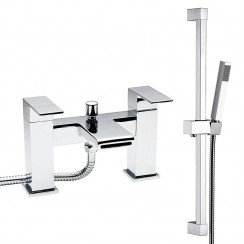 Strike Waterfall Bath Shower Mixer Tap & Rail Kit