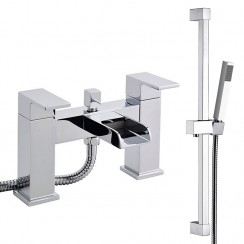 Strike Open Spout Bath Shower Mixer Tap & Rail Kit