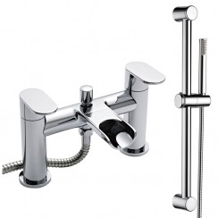 Sutton Bath Shower Mixer Tap & Rail Kit