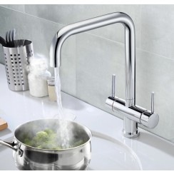 Chrome Lisbon 3 in 1 Instant Hot Water Kitchen Tap & Filter