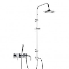 Tec Single Lever Wall Mounted Bath Shower Mixer Tap