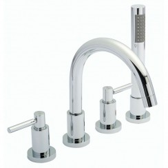 Tec Lever Lever 4 Tap Hole Bath Shower Mixer Tap