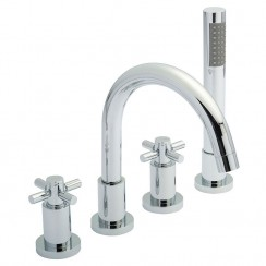 Tec Crosshead Head 4 Tap Hole Bath Shower Mixer Tap