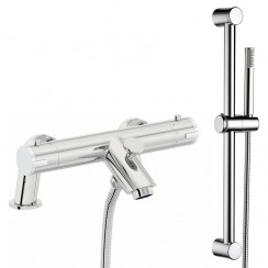 Soho Thermostatic Bath Shower Mixer Tap With Shower Rail Kit