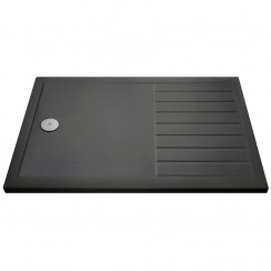 Rectangular Walk-In Shower Tray 1400mm x 800mm - Slate Grey