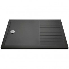 Rectangular Walk-In Shower Tray 1400mm x 900mm - Slate Grey