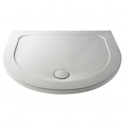 Pearlstone D Shape Shower Tray 1050mm Stone - 40mm Low Profile