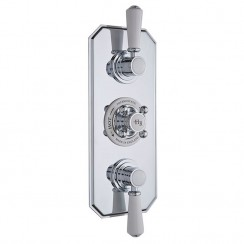 Topaz White Triple Thermostatic Concealed Shower Valve