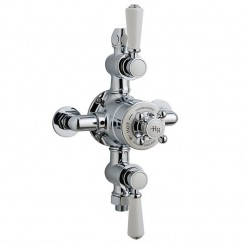 Topaz White Triple Thermostatic Exposed Shower Valve