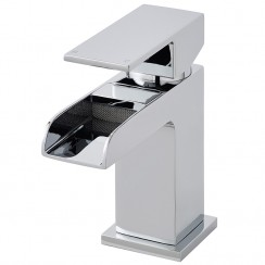 Strike Open Spout Mini Waterfall Mono Basin Mixer Tap