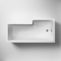 Square Shower Bath - Left Hand 1600 x 850mm