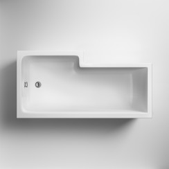 Square Shower Bath - Right Hand 1600 x 850mm