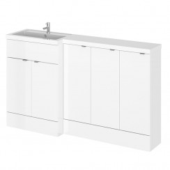 Hudson Reed - Gloss White 1500mm Combination Vanity Unit, WC Unit & L Shaped Basin - Full Depth - L H