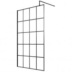 Hudson Reed 1000mm Black Framed Wetroom Screen
